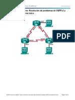 5.2.3.3 Lab - Troubleshooting Basic Single-Area OSPFv2 and OSPFv3