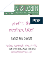 Weather Lead Sheet Book