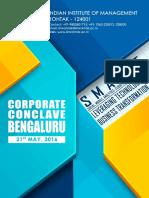 IIM Rohtak _ Bengaluru Corporate Conclave_ (1)