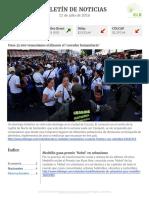 Boletín de noticias KLR 11 de julio de 2016