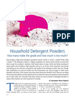 Study on Detergent powder