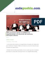 18-02-2016 desdepuebla.com - RMV promueve desde la CONAGO las exportaciones y la atracción de inversión extranjera directa