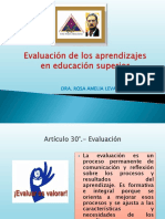 Evaluacion de Los Aprendizajes en Educacion Superior