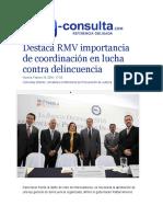 19-02-2016 E-consuta.com - Destaca RMV importancia de coordinación en lucha contra delincuencia