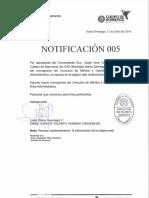 Notificación 005