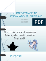 The Importance to Know About First Aid