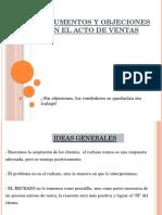 Argumentos y Objeciones en Ventas