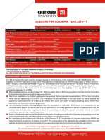 Admission Procedure 2016-17