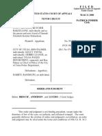 Ketcher Barzellone v. City of Tulsa, 10th Cir. (2000)
