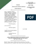 Johnson v. City of Tulsa, 393 F.3d 1096, 10th Cir. (2004)