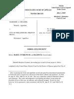 Creamer v. City of Phillipsburg, 10th Cir. (2015)