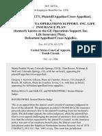 Maxine Bartlett, Plaintiff/appellee/cross-Appellant v. Martin Marietta Operations Support, Inc. Life Insurance Plan (Formerly Known as the Ge Operations Support, Inc. Life Insurance Plan), Defendant/appellant/cross-Appellee, 38 F.3d 514, 10th Cir. (1994)