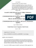 Gerald M. Miller and Laura K. Miller v. Commissioner of Internal Revenue, Ollie B. Adams v. Commissioner of Internal Revenue, 61 F.3d 916, 10th Cir. (1995)