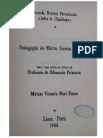 Julio Chiriboga - Pedagogia de Elvira Garcia y Garcia