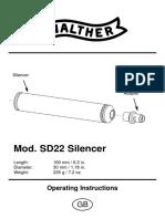 Schalldaempfer SD22 Bed GB