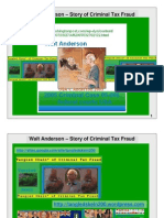 Walt Anderson – Story of Criminal Tax Fraud - draft of slides