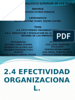 2.4 Efectividad Organizacional
