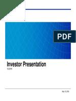 1Q16 Investor Presentation