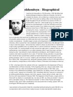 Alexandr Solzhenitsyn - Biographical