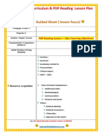 2 Generation Curriculum & PDP Reading Lesson Plan