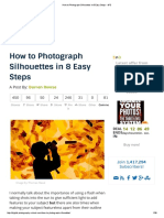 How to Photograph Silhouettes in 8 Easy Steps - DPS