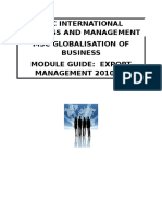 Export Management Module Guide 2011