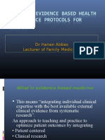 Evidence Based Health Maintenance Protocols for Adults