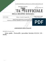 Protocolli e Procedure Servizio SUES 118 Sicilia