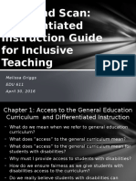 skim and scan - differentiated instruction guide for inclusinve teaching