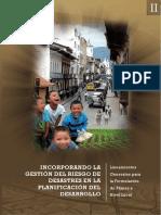 Incorporando la gestión del Riesgo de Desastres en la planificación del Desarrollo