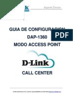 Access Point Dlink - DAP-1360 Guia de Configuracion Modo AP