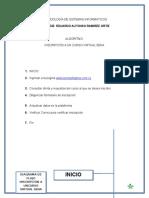 ALGORITMO inscripción a un curso virtual sena