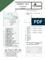 Lista Exercícios - Cartografia - Cap. 01