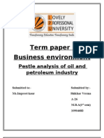 Pestle analysis of oil and petroleum industry