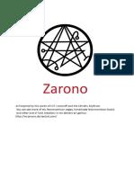 Zarono Necronomicon Book No 1