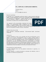 Lectura Para Foro 2 Salud Ambiental-campo de La Complejidad Ambiental
