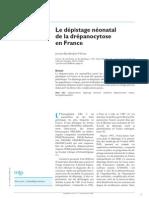 Depistage Neonatal Drepanocytose