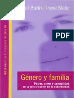 Mabel Burin, Irene Meler - Genero y Familia. Poder, Amor y Sexualidad en La Construccion de La Subjetividad