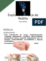 Exploración Física de Rodilla