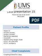 Case Presentation bronchiectasis