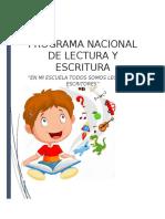 ENSAYO DE PROGRAMA NACIONAL DE LECTURA Y ESCRITURA PNLE