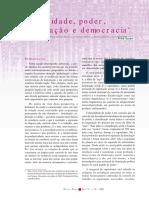 Colonialidade, Poder, Globalização e Democracia