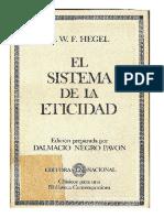 Hegel. El Sistema de La Eticidad Etica