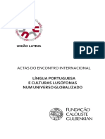 Actas Do Encontro Internacional Língua Portuguesa e Culturas Lusófonas Num Universo Globalizado