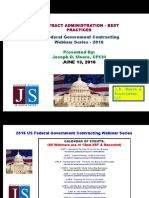 FEDERAL Govt Contracting - Contract Administration Best Practices