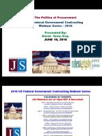 FEDERAL Govt Contracting - The Politics Of Procurement