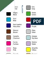 Colores en Ingles
