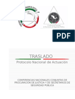 Protocolo Nacional de Actuacin Traslado