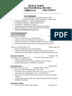 emily a hallett resume 2016