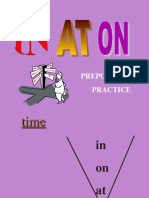 In on at Preposition Practice